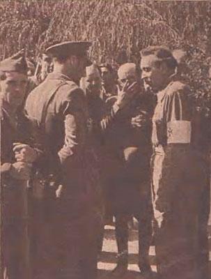 1938. Visitando los frentes de guerra