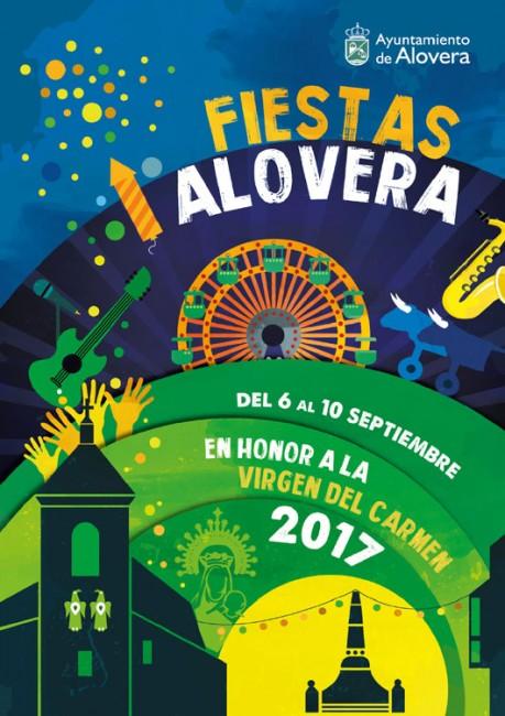 Cartel de las fiestas de Alovera 2017