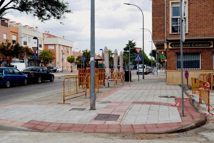 Actuación en la avenida de Alcalá. Fotografía: Álvaro Díaz Villamil/ Ayuntamiento de Azuqueca