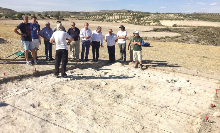 Visita a las excavaciones de Caraca en Drieves