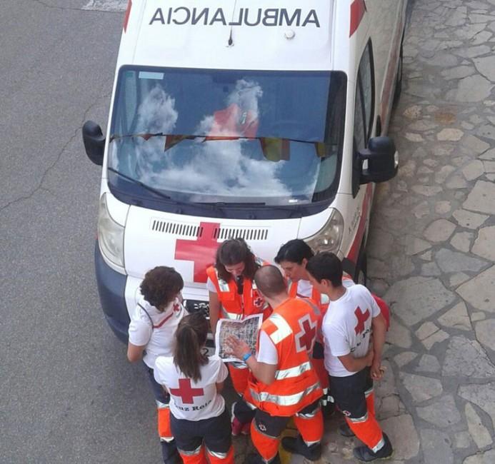 Ambulancia de Cruz Roja en el encierro de Brihuega