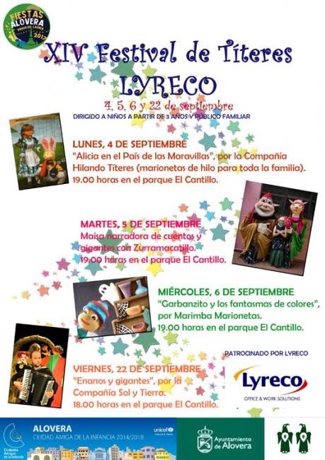 Cartel de la XIV Edición del Festival de Títeres y Teatro de Calle de Alovera