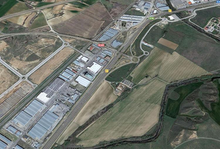 Imagen aérea de la parcela