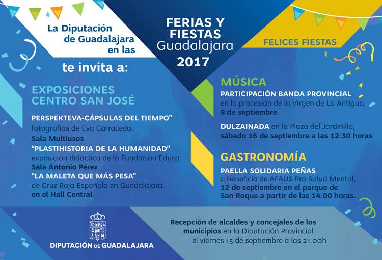La Diputación de Guadalajara patrocina diversas actividades en la Ferias y Fiestas de la capital