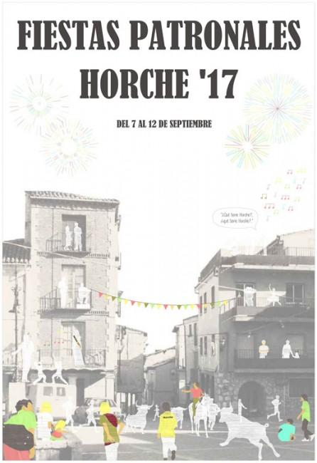Cartel de la fiestas de Horche 2017