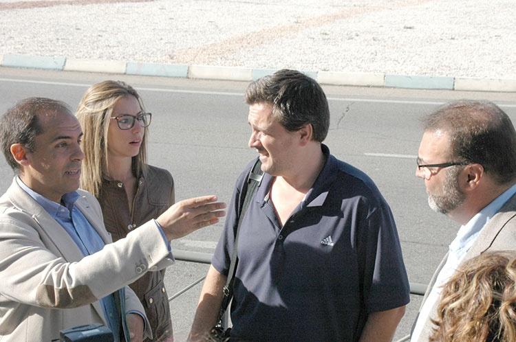 Daniel Jiménez en su visita a Cuatro Caminos