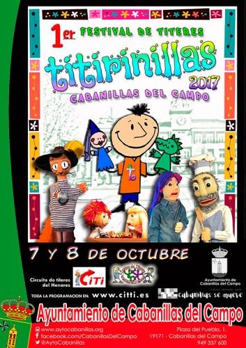 Cartel del I Titirinillas que se va a celebrar este fin de semana en Cabanillas