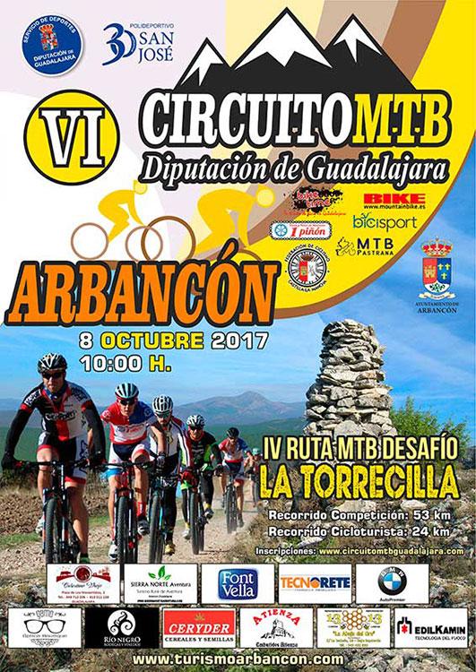 Cartel de la prueba ciclista en Arbancón
