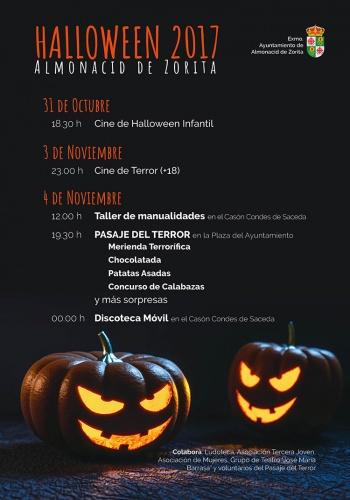 Cartel de las actividades organizadas en Almonacid de Zorita