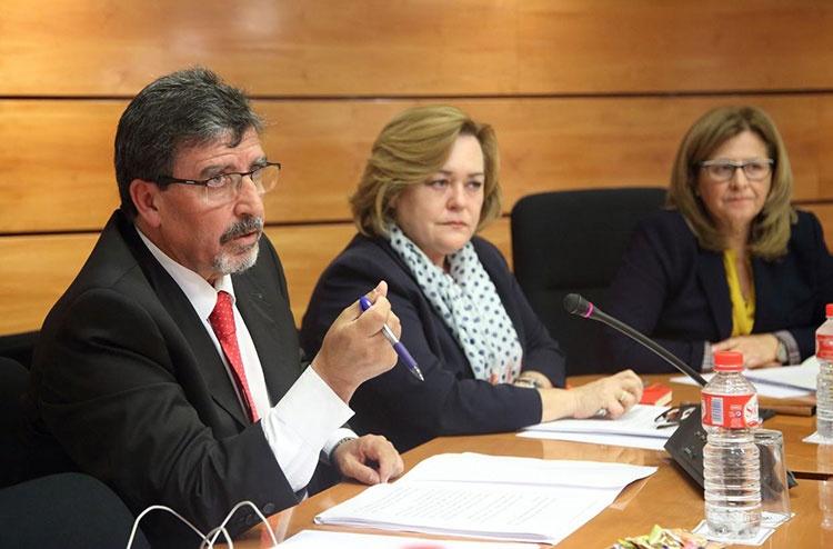 Antonio Luengo durante su comparecencia en la Comisión de Fomento