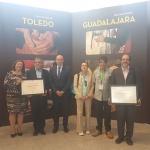 Diputación con los artesanos de la provincia en FARCAMA