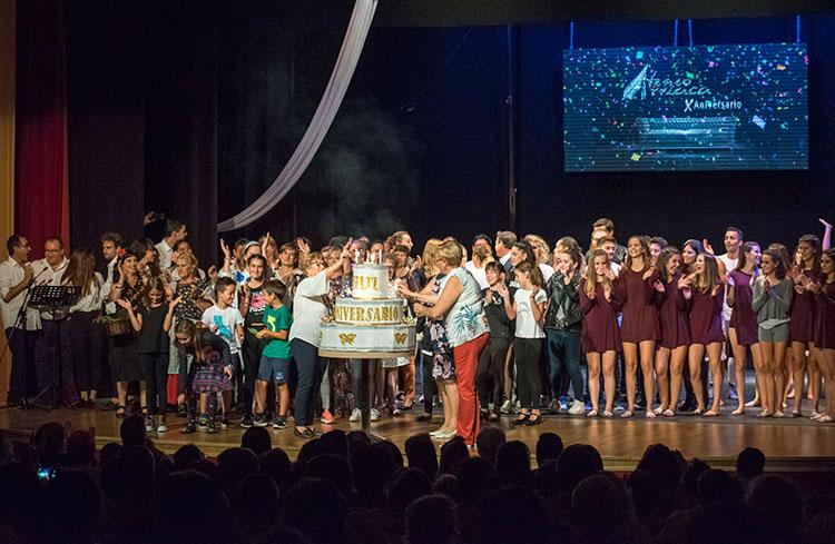 Un momento de la celebración de los diez años del Ateneo Arriaca