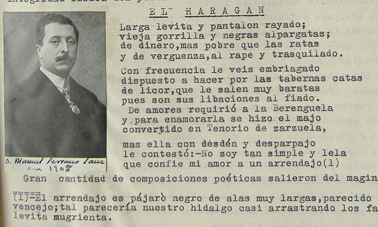 Don Manuel Serrano Sanz, quien también tuvo sus lances poéticos