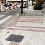 Ejecutadas ya la mitad de las obras en la calle Sigüenza