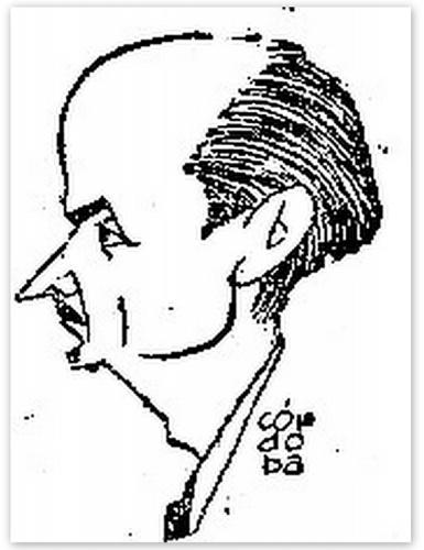 Restituto Martín Gamo. Caricatura de Santiago Córdoba