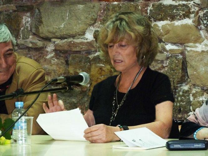 María Antonia Velasco durante la presentación