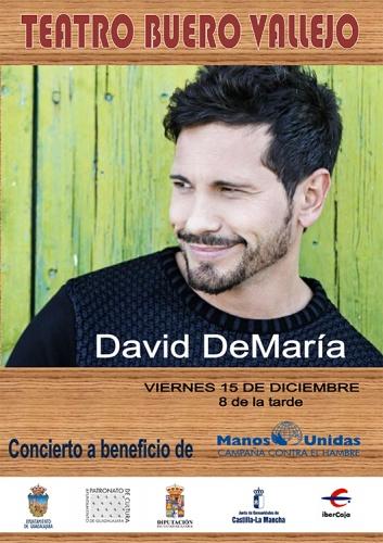 David demaría en el Teatro Buero Vallejo el próximo día 15 de diciembre