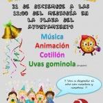 Campanadas infantiles a mediodía en Azuqueca para despedir el año