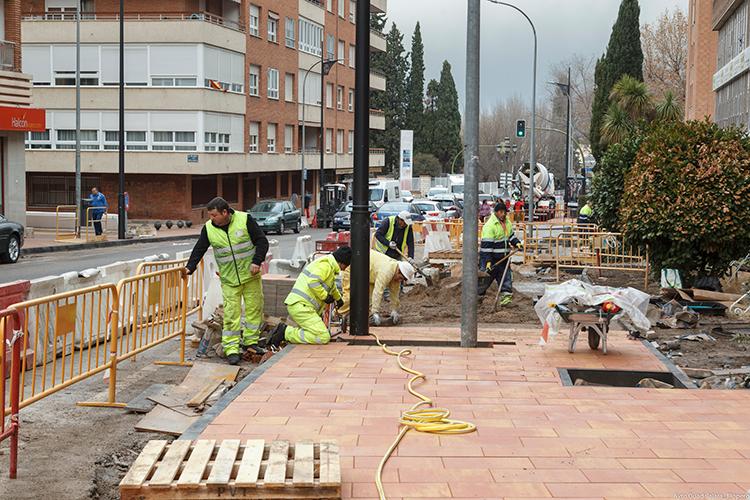 Obras en la calle Sigüenza