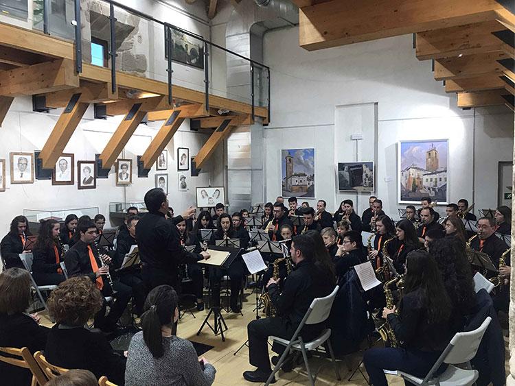 Un momento del concierto en honor a San Sebastián