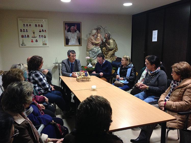 Antonio Román se reúne con las Conferencias de San Vicente de Paúl de Guadalajara