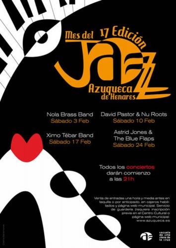 El cartel promocional del Mes del Jazz es obra de Cristina Bahamonde, alumna de la Escuela de Arte de Guadalajara Elena de la Cruz