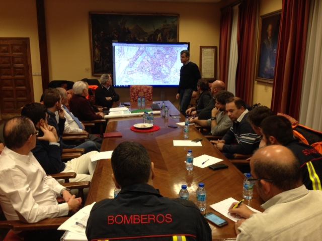 Primera reunión en Guadalajara el CECOPAL ante la alerta naranja de nieve