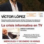 El ciclo 'José Luis Sampedro' continúa el 17 de enero con la charla 'La crisis informativa en TV'