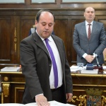 El socialista Alonso toma posesión como diputado provincial tras la retirada de Pérez