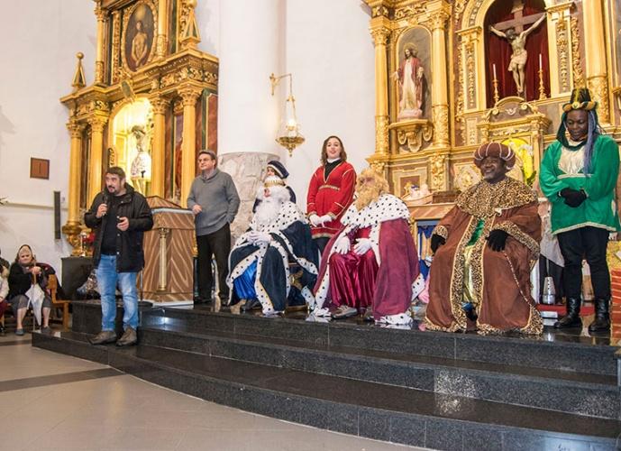 Los Reyes Magos en la iglesia de Marchamalo