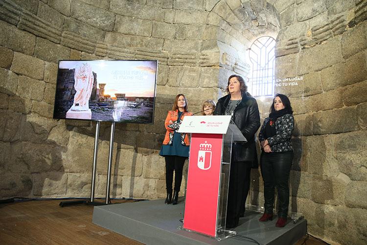 Patricia Franco, ha presentado hoy, en la iglesia visigoda Santa María de Melque la presencia regional en FITUR