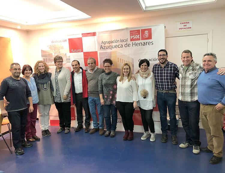 La nueva ejecutiva del PSOE en Azuqueca