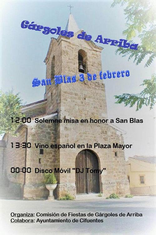 Gárgoles de Arriba celebra las fiestas en honor a San Blas