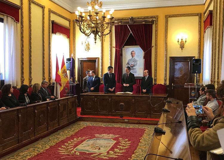 Un momento de la visita del Ministro de Fomento, Íñigo de la Serna a Guadalajara
