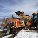 Las máquinas de la Diputación se centran en la limpieza de carreteras y distribución de sal a ayuntamientos