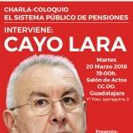 Cayo Lara visitará mañana Guadalajara para participar en una charla-coloquio sobre el Sistema Público de Pensiones