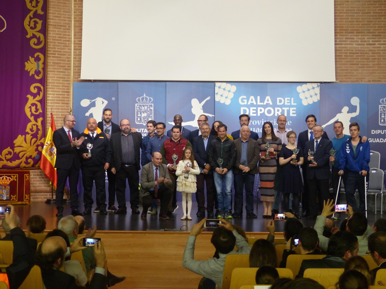 Los premiados en la gala del deporte de la Diputación Provincial