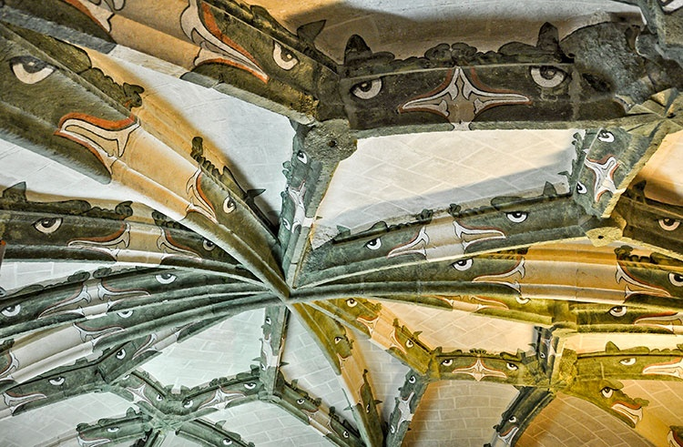 La bóveda de la capilla mayor de la iglesia de San Francisco