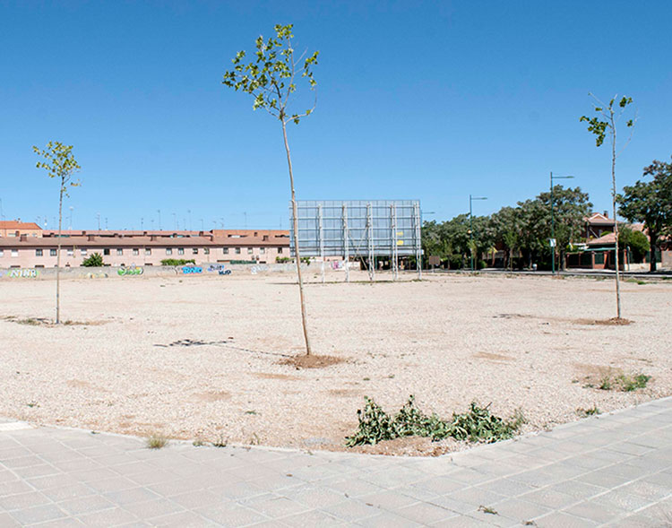 Parcela donde se va a ubicar la residencia de ancianos de Marchamalo