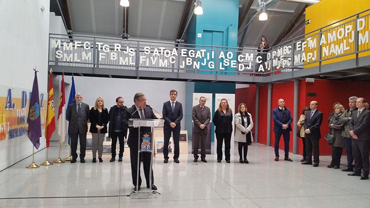 Un momento de la inauguración de la exposición por parte del Juan Ignacio Zoido Ministro del Interior
