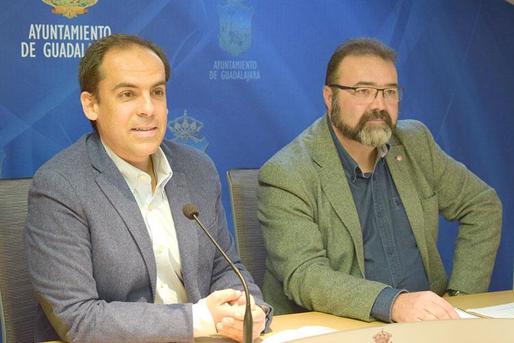 Daniel Jiménez y Víctor Cabezas en la rueda de prensa