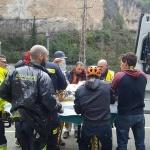 Dos heridos en un desprendimiento de rocas en Sacedón mientras hacían escalada