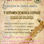 Este sábado, V Certamen de Música Cofrade en Sigüenza