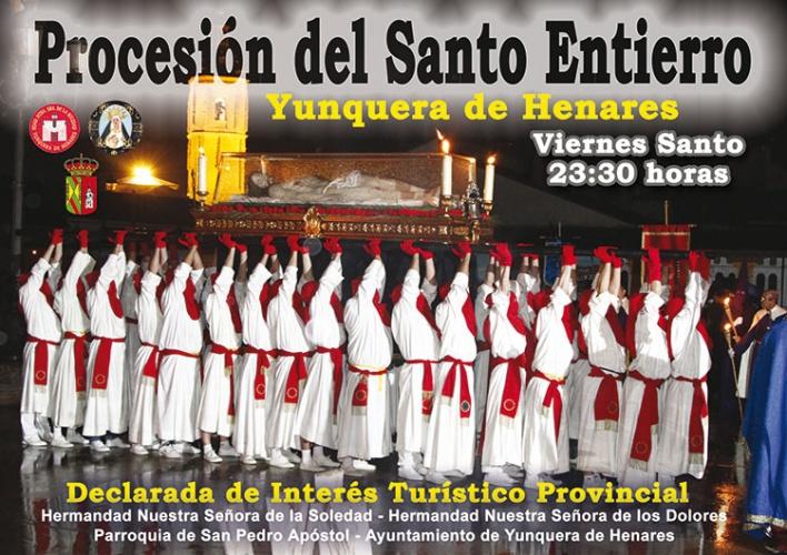 Cartel de la procesión del Santo Entierro en Yunquera de Henares