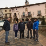 La Diputación renueva las redes y el pavimento de una parte de la Plaza de España de Atienza