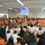 La comunidad educativa y el Ayuntamiento azudense reivindican el papel del libro