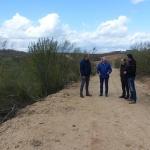 La Diputación lleva a cabo el arreglo de dos caminos en Quer a través del Plan de Caminos