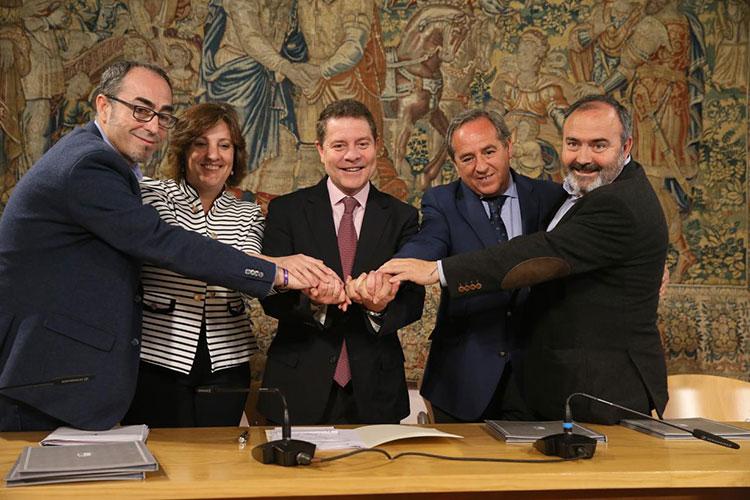 Los agentes sociales tras la firma del acuerdo