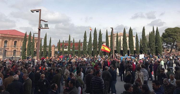 Manifestación en defensa de la caza celebrada ayer en Guadalajara