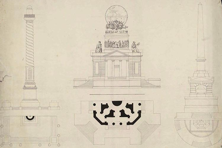 Proyecto de Monumento al 2 de Mayo (Biblioteca Nacional)